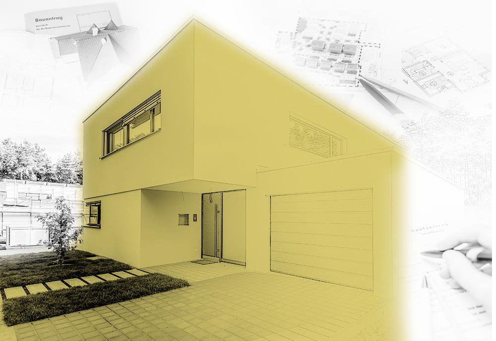 Stadien eines Hausbaus